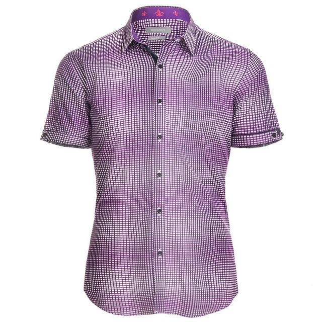 Plaid Shirt Men 2017 Brand New Short Sleeve Mens Dress Shirts ...
