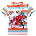 Big hero 6 camiseta de los muchachos de la camiseta para los niños del bebé ropa de verano niños de la historieta t shirt roupas infantis menino vetement garcon