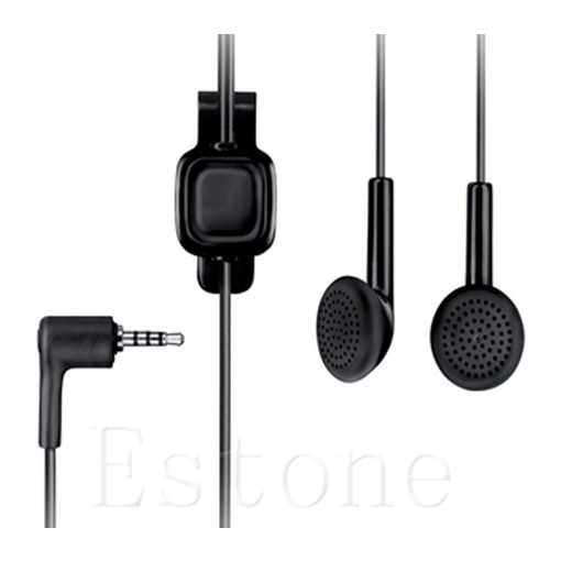 1 PC Black 3.5mm Headset Earphone For Nokia WH-101 HS-105 2680 6500 E66 E71 Nova 5000 6220 7210 image