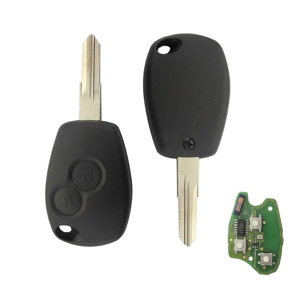 Okeytech 2 кнопки дистанционного Ключи 433 мГц для Renault Kangoo 2003-2008 Megane modus Clio Logan Sandero тряпкой с PCF7946 чип