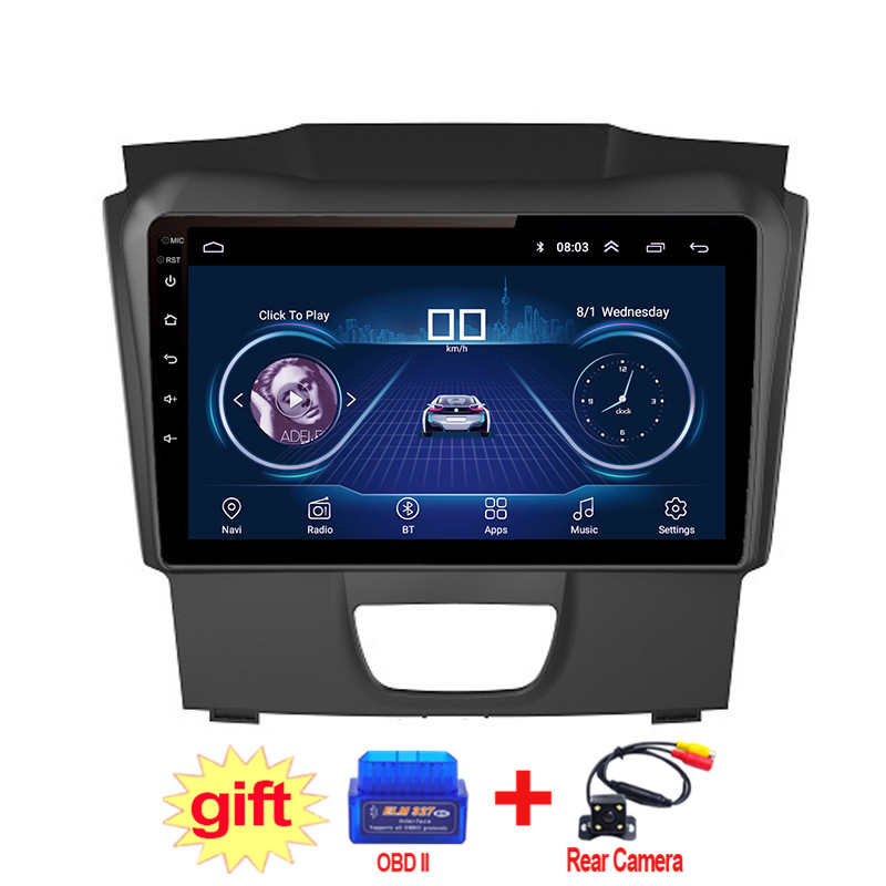 10.1inch IPS and 2.5D Touch Screen Android 8.1 Car DVD GPS Navigation for Isuzu D-MAX DMAX 2017 Radio Audio Stereo