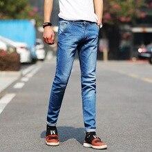 Men Jeans 2017 Fashion New Slim Fit Male Mid Waist Full Length Casual Denim Jeans Pants Six Colors 28-38