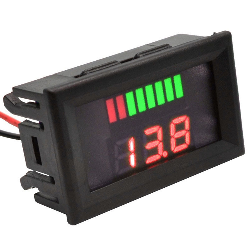 DC 6-100V Red LED Digital Display Voltmeter Mini Voltage Meter Volt Tester Panel For DC 12V Cars Motorcycles Vehicles 5pcs dc 6 12v measuring range 2 wire connect red led digit voltmeter