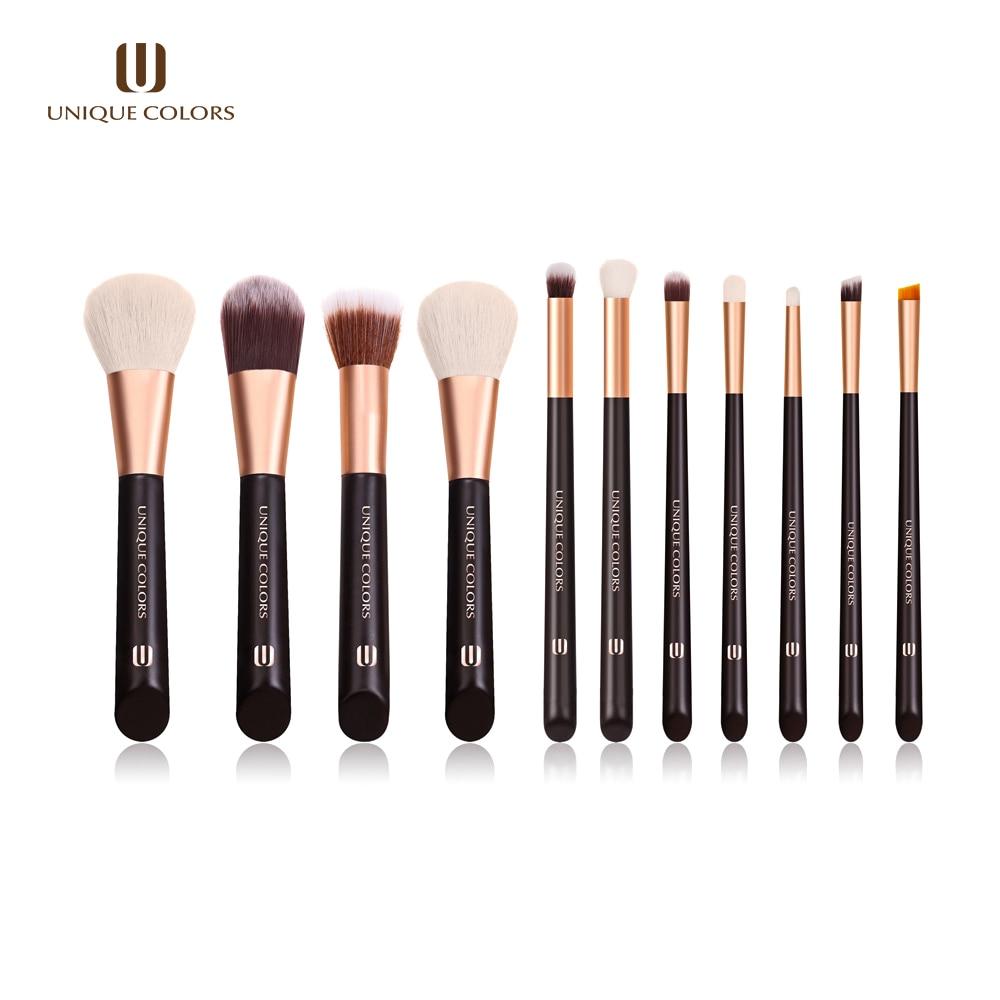 US $19 06  UNIQUE COLORS 11PCS Face Makeup Brushes Set Eyeshadow Foundation  Eye Brown Powder Brush Natural Bella Fiber Make Up Brush Tools-in Eye