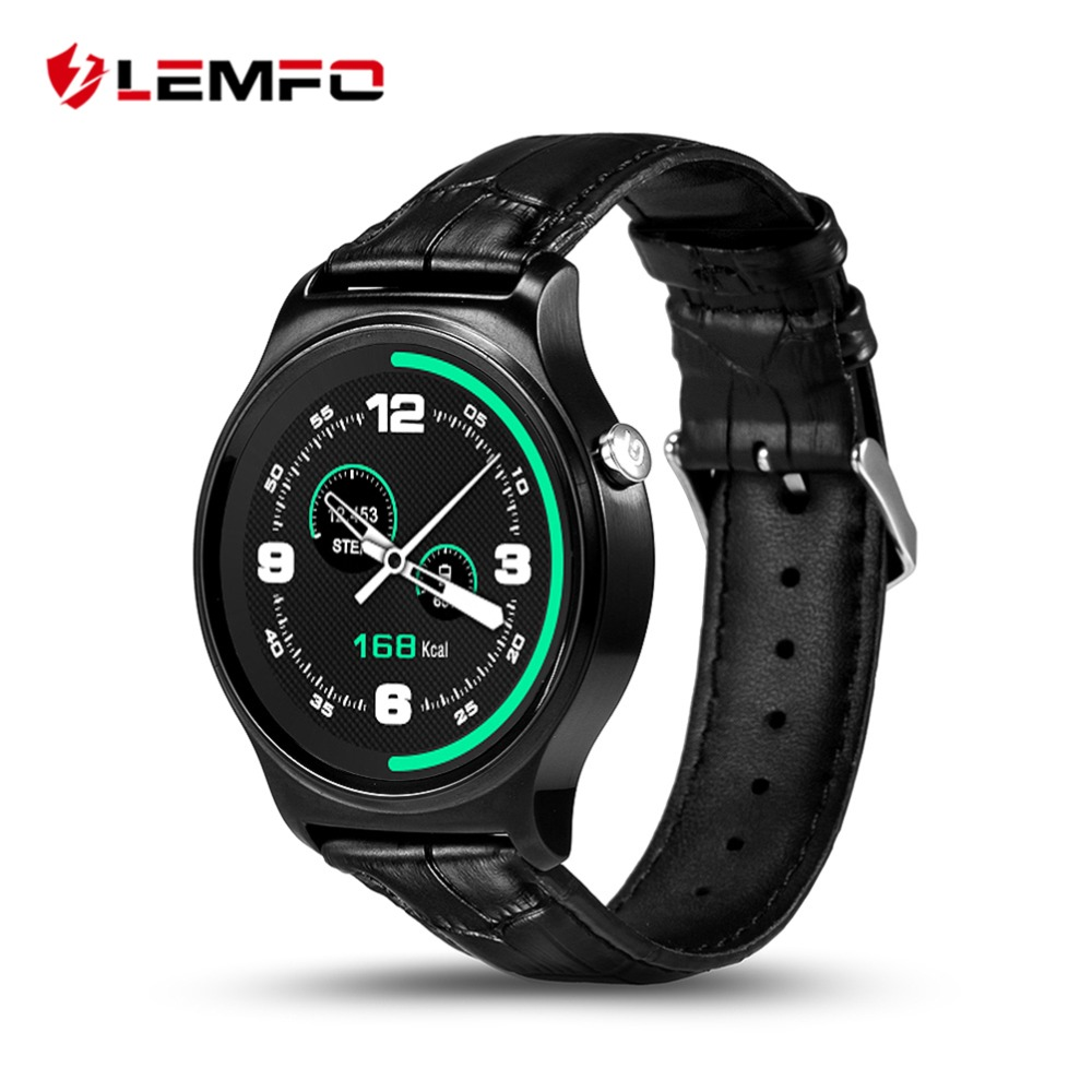 "LEMFO GW01 Bluetooth Smart Watch 1.3"" IPS Round Touch ..."