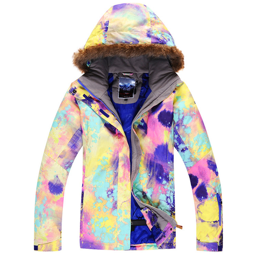 2016 Free shipping Gsou snow ski suit Women single skiing clothing windproof waterproof thermal thickening Outdoor skiing gsou snow ski suit for women skiing suit winter outdoor sports clothes snowboard set camouflage ski jacket and pants multicolor