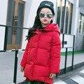 Новые Новорожденных Девочек Зимнее пальто Корея Моды Случайные Дети Плюс хлопка С Длинным Рукавом Молнии С Капюшоном Потепления Одежда Для Детей Hot продажа