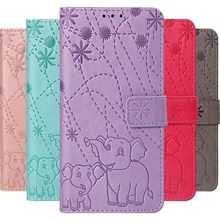 Embossing Fireworks Elephant Phone Case For Sony Xperia 10 XA3 XZ3 Z3 Luxury Wallet Stand Photo Frame Card Slot Flip Cover DP03G