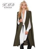 KMD KOMODA נשים מעיל גשם האופנה 8 צבעים מזדמן להאריך ימים יותר מן נקבה להרחיב Vintage Loose קייפ פונצ 'ו להאריך ימים יותר אלגנטיים גבירותיי