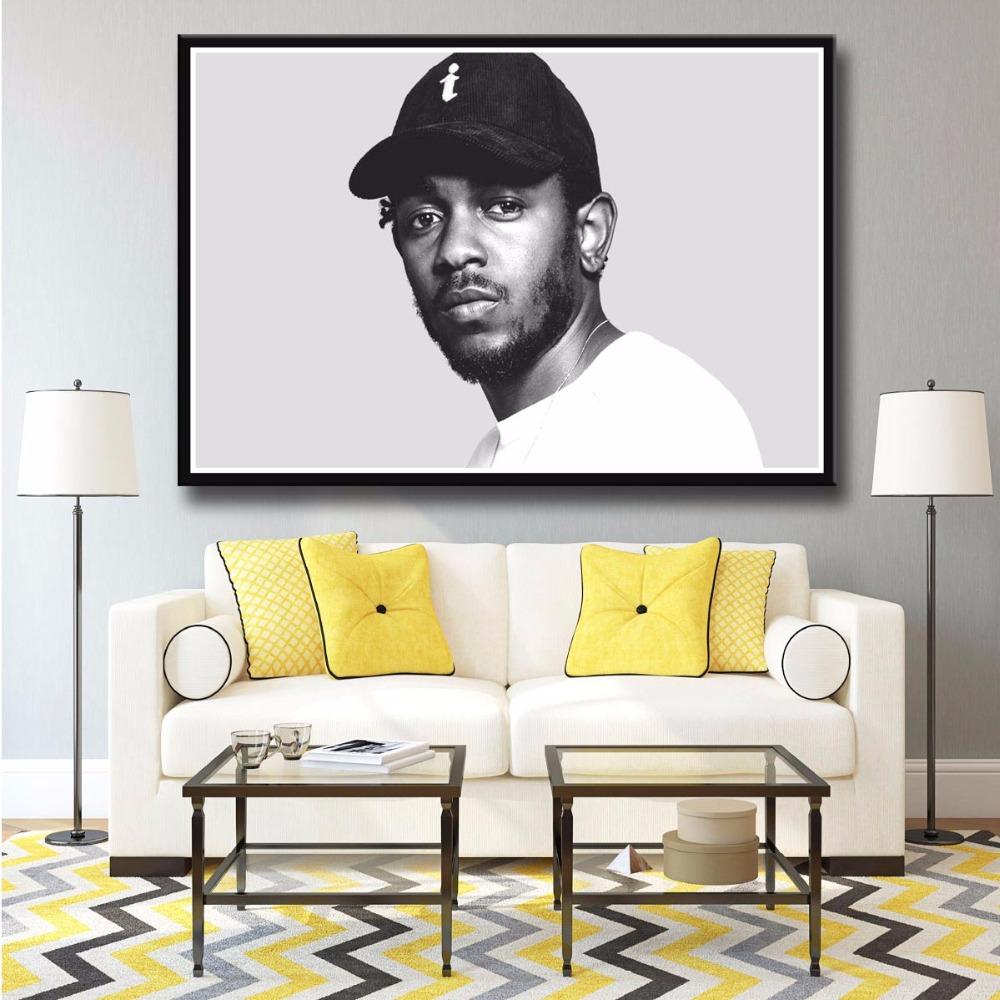 J2042- Kendrick Lamar Rap singer Pop 14x21 24x36 Inches Silk Art Poster Top Fabric Print Home Wall Decor