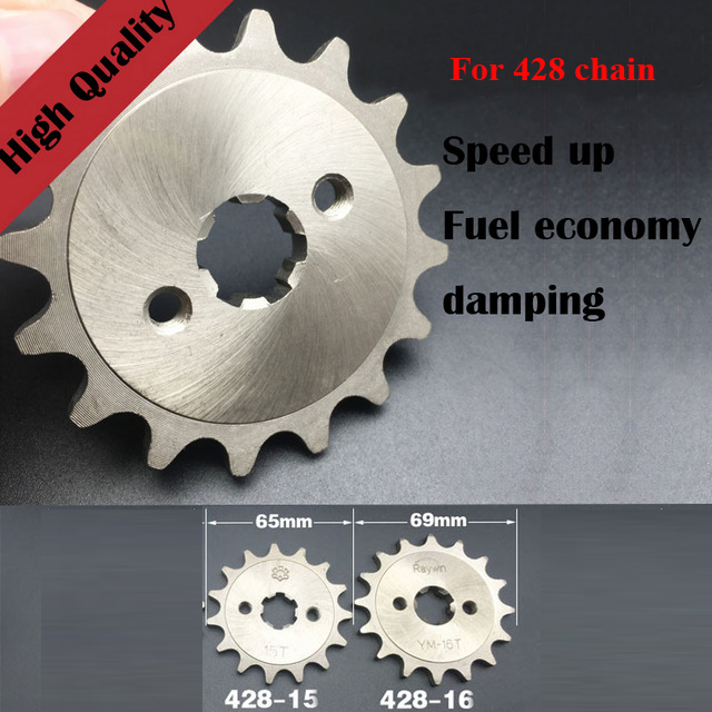 428 14T Compatible with Honda CRF100F XL100S XR100 XR100R Front Sprocket