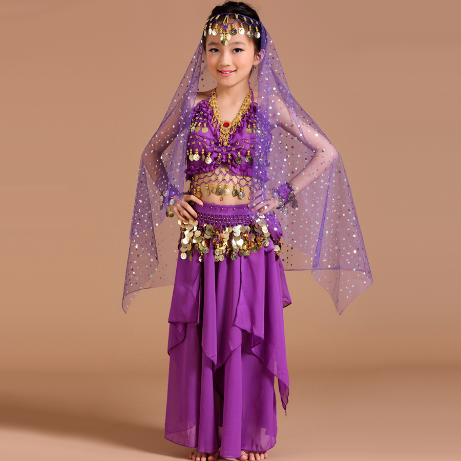 2017 Kids Belly Dance Costumes 5pcs(Top+Skirt+Waist Chain+Headwear+Bracelet) Gypsy Costume Danca Do Ventre Vestido Indiano-in Belly Dancing from Novelty ...  sc 1 st  AliExpress.com & 2017 Kids Belly Dance Costumes 5pcs(Top+Skirt+Waist Chain+Headwear+ ...