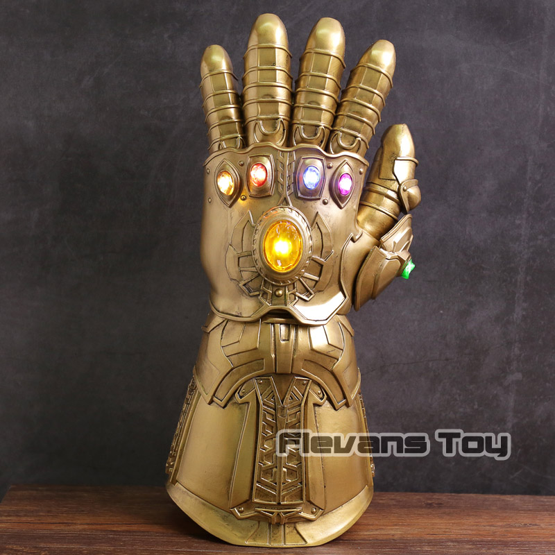 High Quality Avengers Infinity War Thanos Infinite Glove with LED Light PVC Action Figure Collectible Model Toy