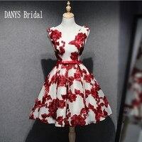 Red Short Homecoming Dresses 8th Grade Prom Dresses Junior High Cute Lace Graduation Formal Dresses