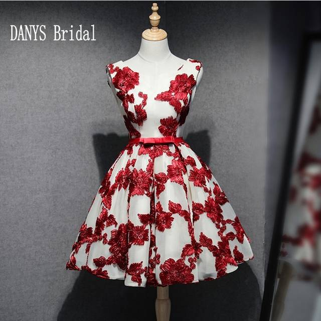 cbc38bf754508 US $89.1 10% OFF|Red Short Homecoming Dresses 8th Grade Prom Dresses Junior  High Cute Lace Graduation Formal Dresses-in Homecoming Dresses from ...