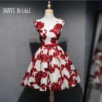 Red Short Homecoming Dresses 8th Grade Prom Dresses Junior High Cute Lace Graduation Formal Dresses