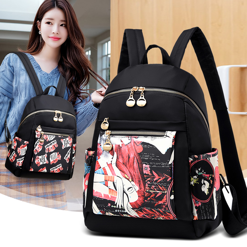 Fashion Backpack Female High Quality Waterproof Oxford Backpack Women Large School Bags for Teenage Girls Student Travel Bag in Backpacks from Luggage Bags