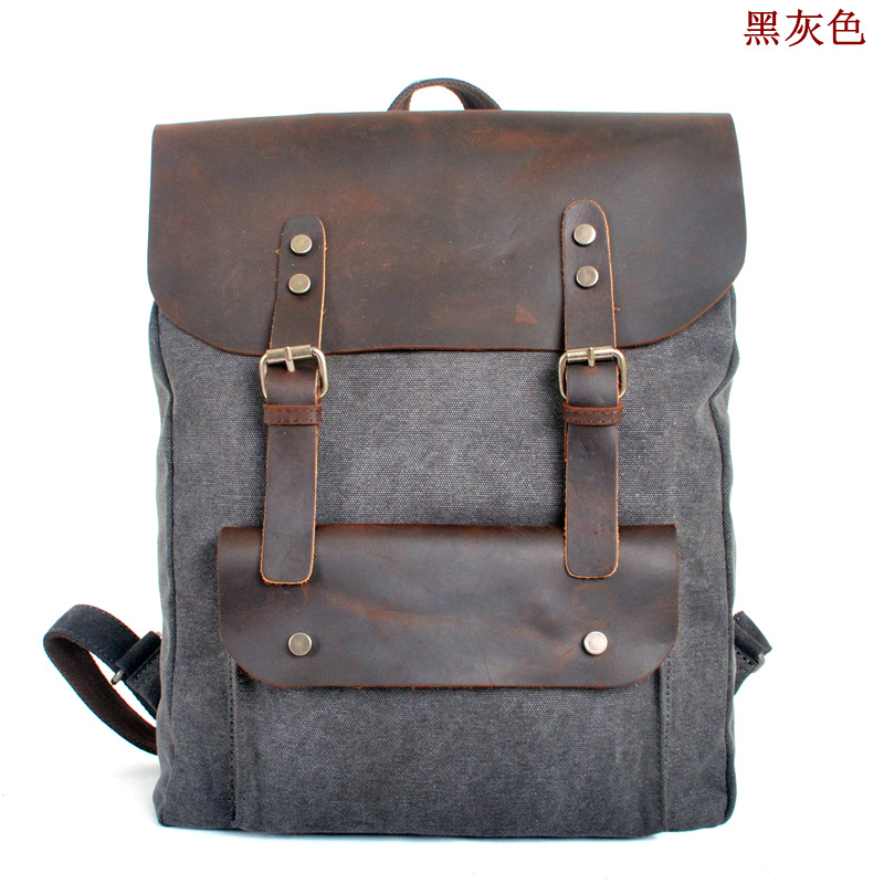 308c1651a9d5 2018 hot sale men vintage canvas backpacks fashion preppy backpacks  rucksack canvas the knapsack school bags free shipping