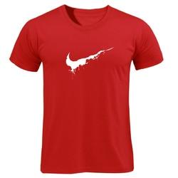 Bawełna Casual drukowanie LOGO męska koszulka najwyższej moda z krótkim rękawem wystarczy złamać go męska koszulka koszula 2019 chanuka Off biały 4