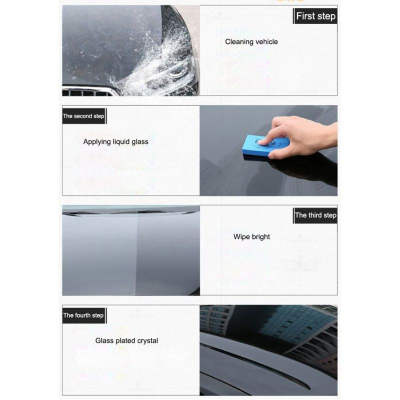 Image 2 - Car Coating Liquid Glass Waterproof Nano Ceramic Paint Care Anti scratch Super Hydrophobic Glass Coating-in Paint Cleaner from Automobiles & Motorcycles
