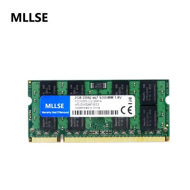 MLLSE новая герметичная SODIMM DDR2 667 МГц 2 Гб PC2-5300 память для ноутбука ram, хорошее качество! Совместимость со всеми материнскими платами!