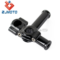 Black Motorcycle Handlebar Risers 1 Bar Risers Bars Mount Clamp For Harley