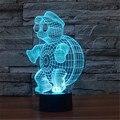 Mr Tartaruga criativo 7 Cores 3D Acrílico Visual Luz LED Quarto Lâmpada Decoração de Mesa Lâmpadas Night Light Presentes Dos Miúdos 3D-TD119