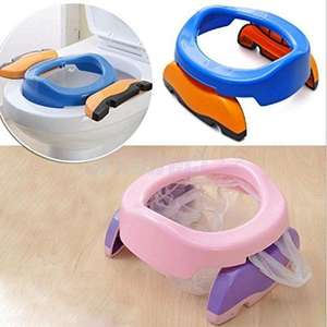 Baby Plastic Toilet Seat Infant Indoor Pots Ring Kids Children Trainers Portable Potty