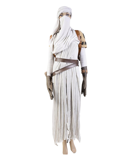 Star Wars VII The Force Awakens Costume Cosplat Full Set Uniform Rey Cosplay Costume Halloween Carnival Rey Costume Full Set 1