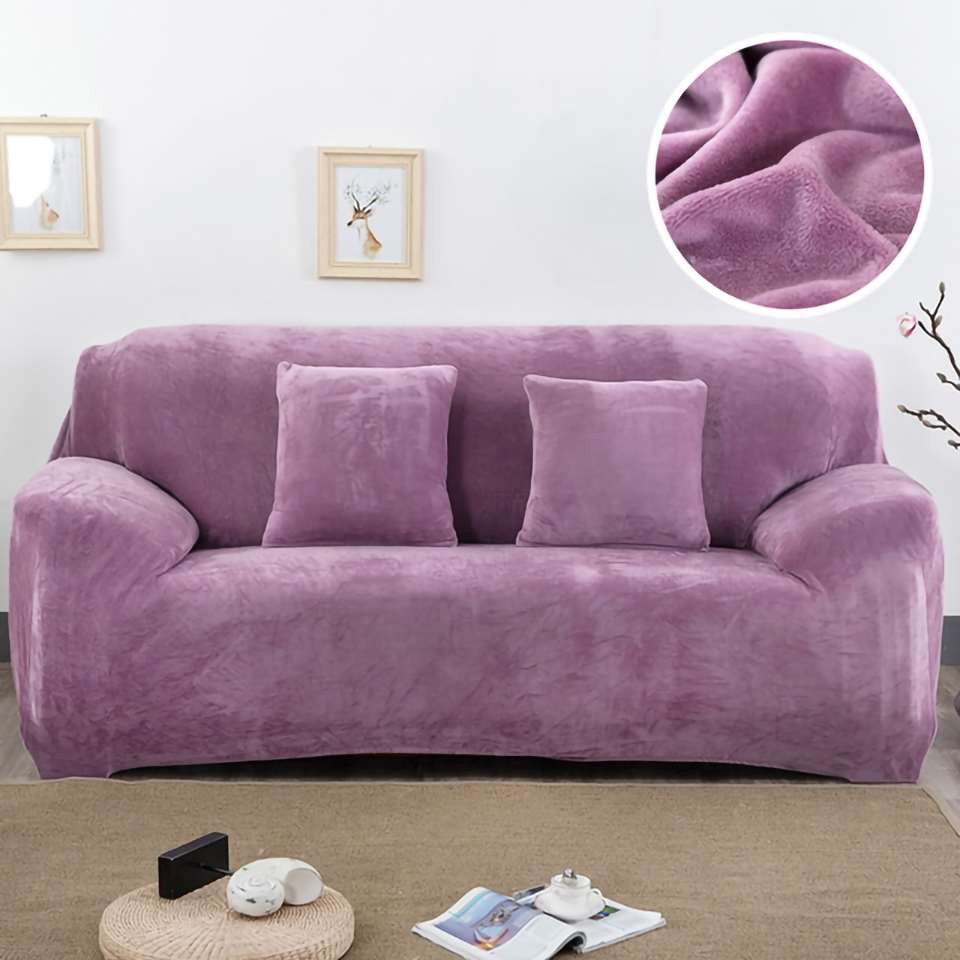 Homesick Plush Fabirc Sofa cover 1 2 3 4 Seater Euro Furniture Covers For Sofas Corner