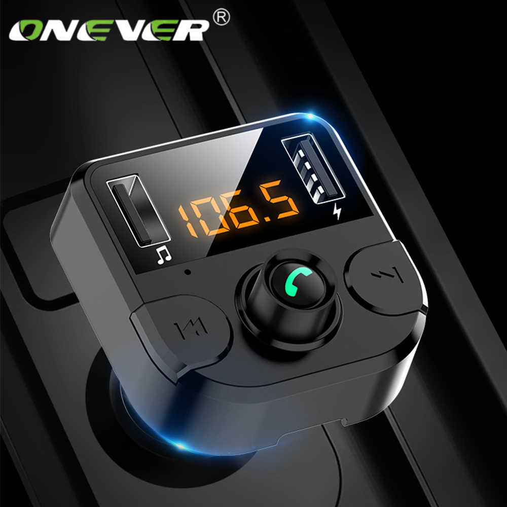 Bluetooth 5.0 Car FM Transmitter 4.6A Quick Charge Dual USB Charger Car MP3 Player Car Accessories Handsfree Auto FM Modulator
