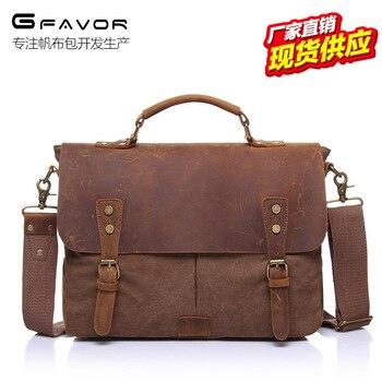 032518 new hot man vintage messenger bag male canvas handbag