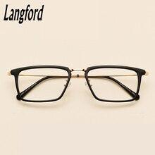 7bf9747e53 Langford marca marco Marco de gafas hombres óptica gafas espectáculo marcos  gafas anteojos recetados 4802