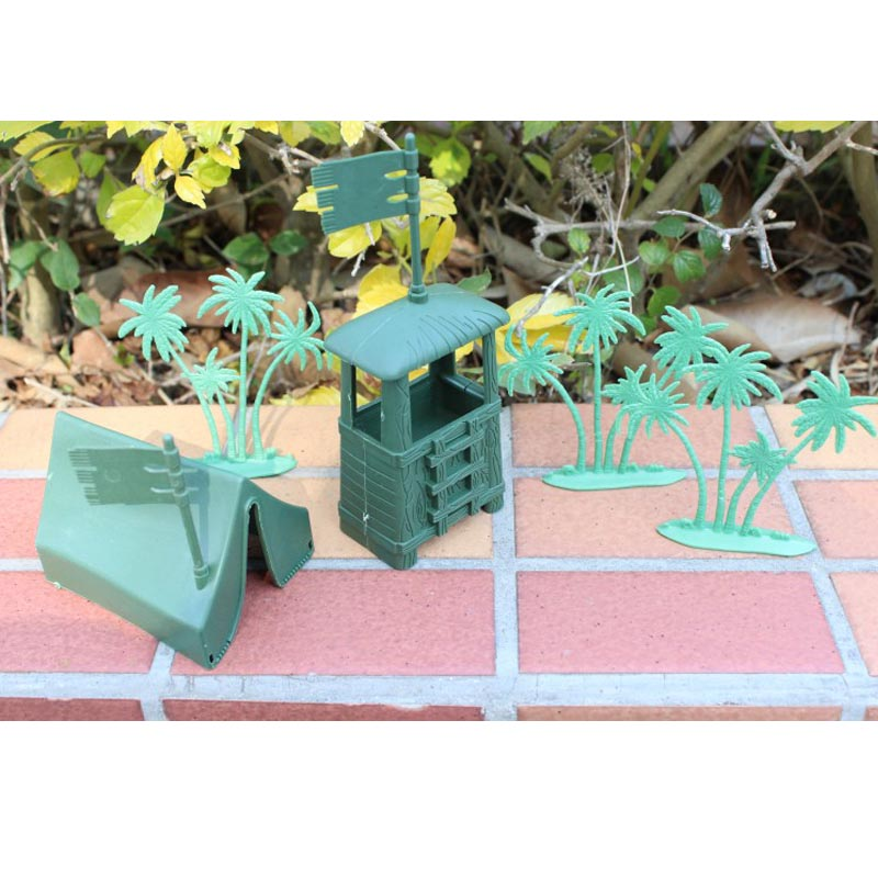 Toys & Hobbies Expressive War Scenes Lookout Model Toy Station Booth 7pcs/set Holiday Gifts Childrens Toys Military Model Soldier Free Shipping With A Long Standing Reputation