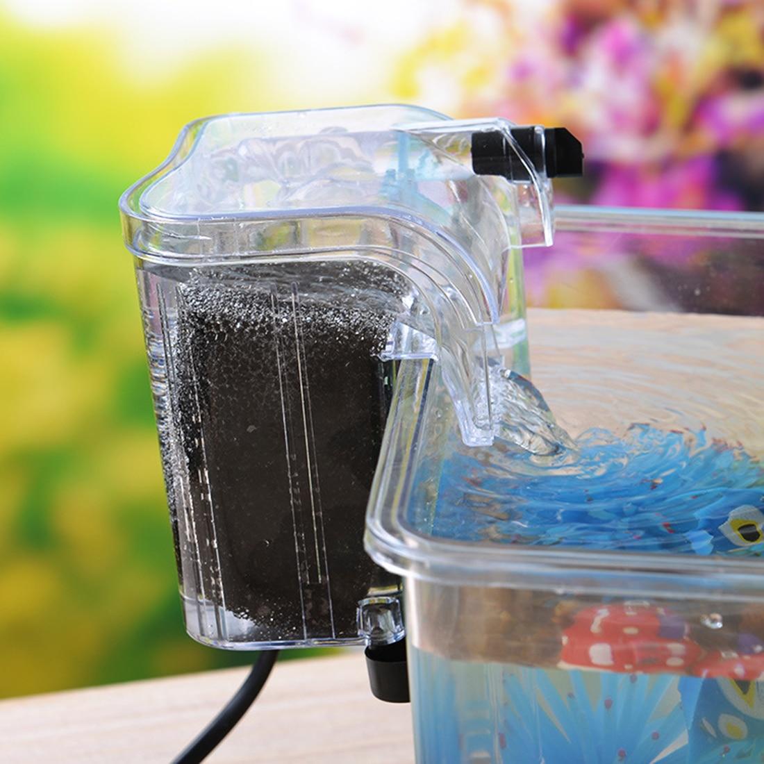3 In 1 Sinking Pump Blunt Oxygen Pump External Water Purifier Filter For Mini Fish Tank 100% Guarantee