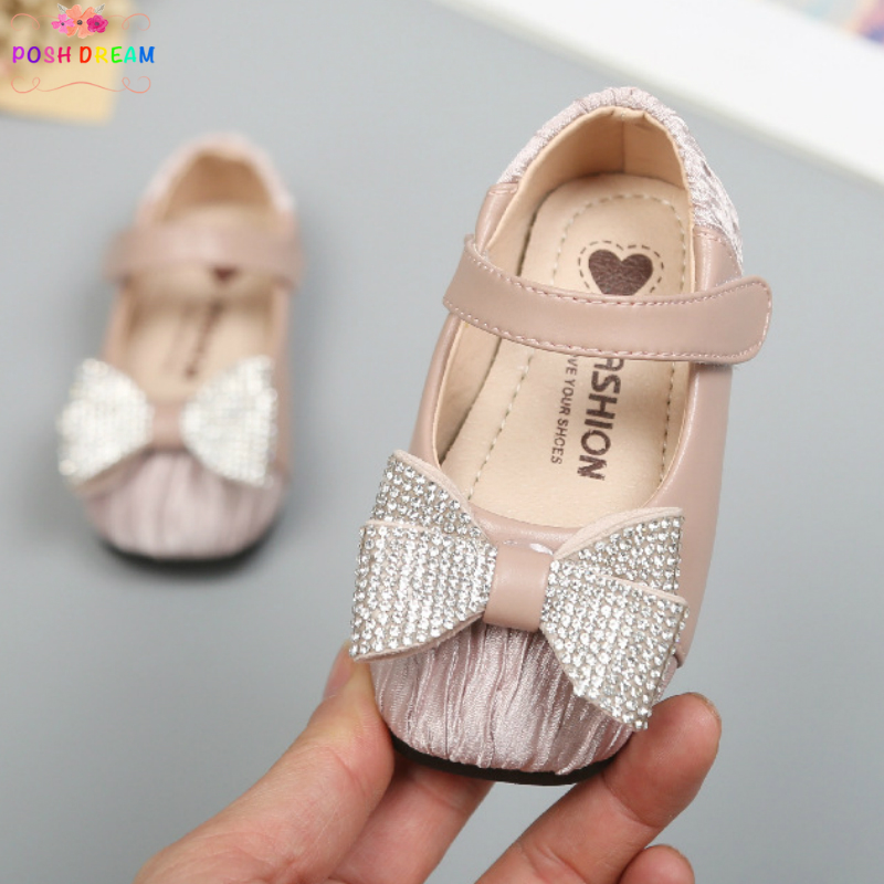 Spring And Autumn 0-1 Girl Baby Princess Lace Heart Butterfly Knot Baby Toddler Shoes Mother & Kids First Walkers