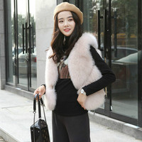 Faux Fur vest Winter Women 2018 New Fashion Casual Warm Slim Sleeveless Faux Fox Fur Vest Winter Jacket Women casaco feminino