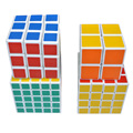 4pcs 2x2x2 3x3x3 4x4x4 5x5x5 Magic Speed Twist Puzzle Cube White for Kids Magic Cubes YH-17