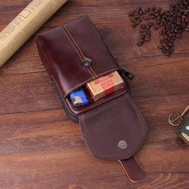 Belt Clip Man Genuine Cow Leather Mobile Phone Case Pouch For Huawei Mate 10 Lite,Nova 2i,Honor 9i/7X,Maimang 6,ZTE Blade Force