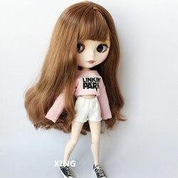 2 шт./компл. Doll's Blyth Clothes полосатая Повседневная футболка + джинсовые шорты для Barbi Shirt для 1/6 кукольная одежда аксессуары