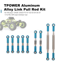 RC Car Aluminum Alloy Link Pull Rod Kit for WLtoys 12428 12423 FY 01 02 03 04 05 07 1/12 RC Off road Climber Cars