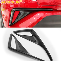 Carbon fiber style After fog lamp decoration cover Car Accessories For Toyota CHR C HR 2017 2018