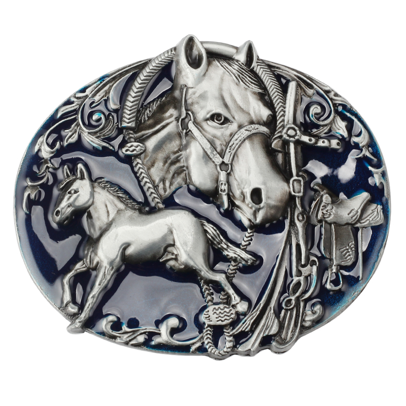 Horse Theme Belt Buckle The Head Of A Horse And A Horse Belt Buckle