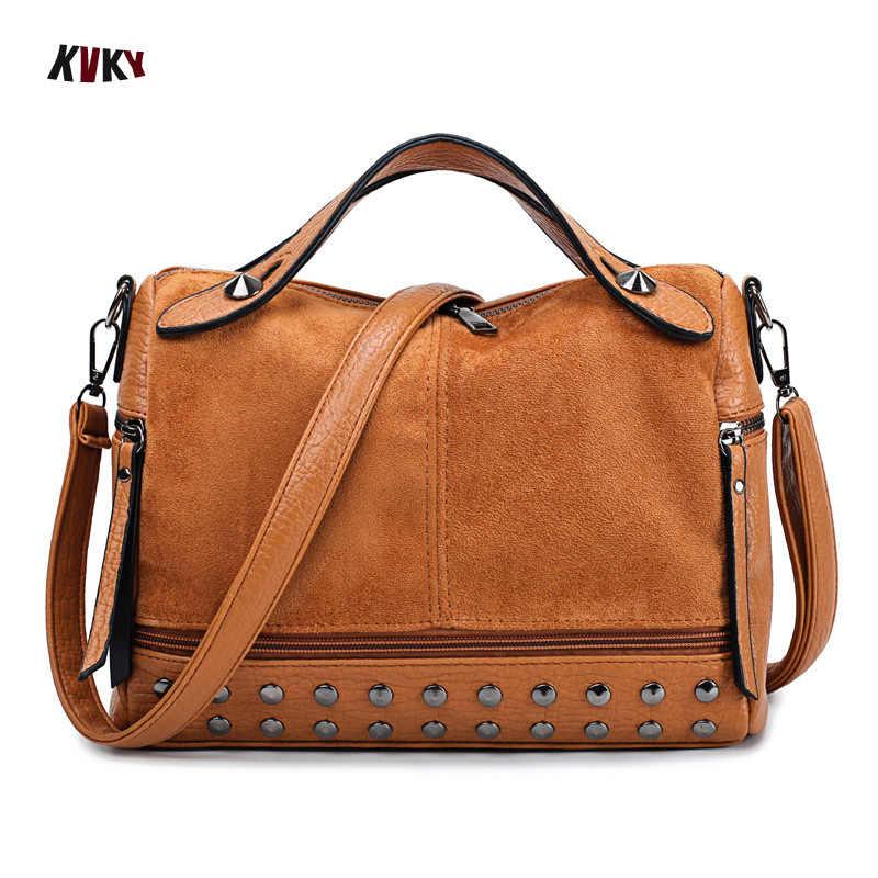 Kvky bolsas bolsa feminina de ombro feminino luxo fosco couro saco do mensageiro das senhoras crossbody sacos de mão para mulheres sac