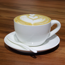 Hot!! Ceramic cup coffee set China white porcelain cup home Cafe Creative cup and saucer spoon Hotel Supplies cup saucer set