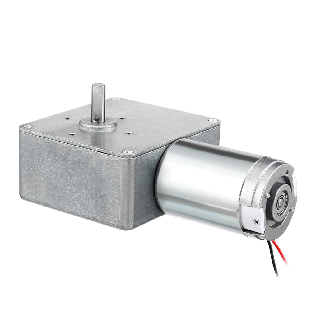 UXCELL Hot Selling 1PCS DC 24V 60RPM Carbon Brushes Worm Gear Motor Reduction 20 x 8mm High Torque Reversible Turbine uxcell new dc 12v 14rpm dc 24v 27rpm high torque reversible turbine worm gear motor 14x6mm shaft reduction motor 57 x 31mm