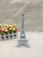 25cm White coloured Eiffel Tower Figurine Statue Home Ornament