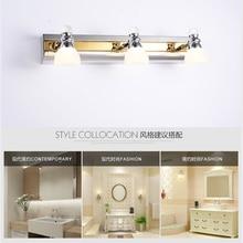 Зеркальный светильник для ванной светодиодный настенный светильник s 3 головки 9 Вт простое украшение Внутреннее освещение светодиодный светильник из нержавеющей стали