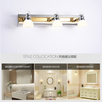 Mirror Headlight Bathroom LED Wall Lights 3 Heads 9w Simple Decoration Indoor Lighting LED Light Source Stainless Steel