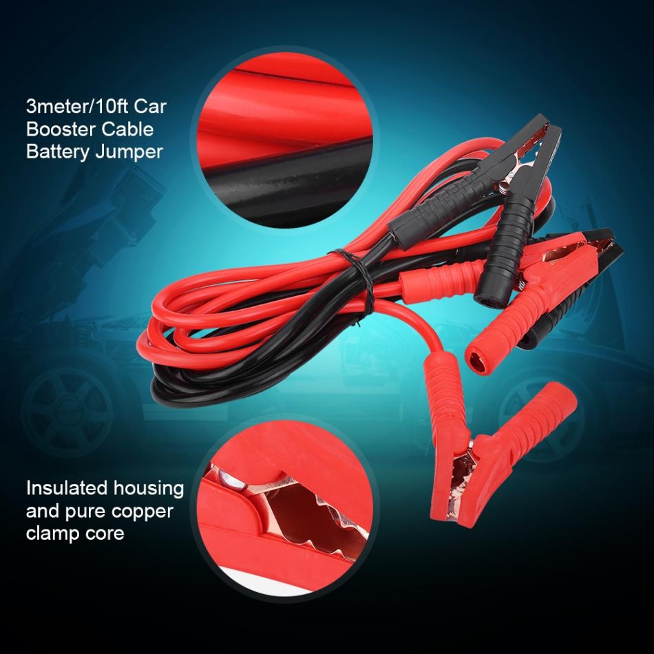 Car Power Booster Cable Emergency Battery Jumper Cables Vauxhall Corsa Wiring Lgnition Wires 1800a 3meter 10ft Heavy Duty In Jump From